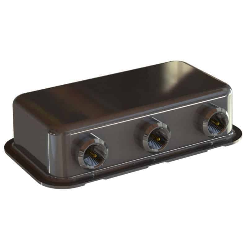 Small size 3-port Diplexer with FME-male connectors
